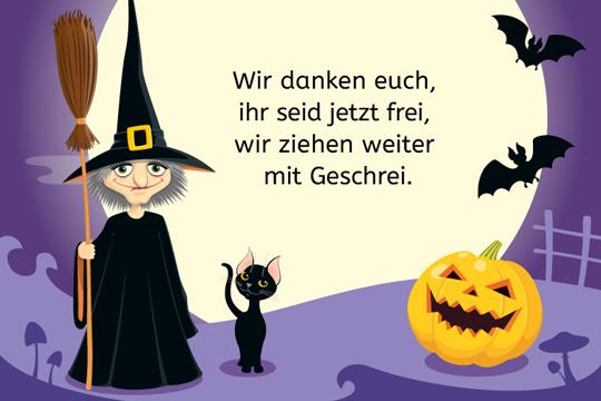 Wir danken euch & andere Halloweensprüche