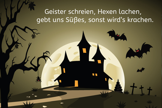 halloween spruch geister schreien bilder. Black Bedroom Furniture Sets. Home Design Ideas