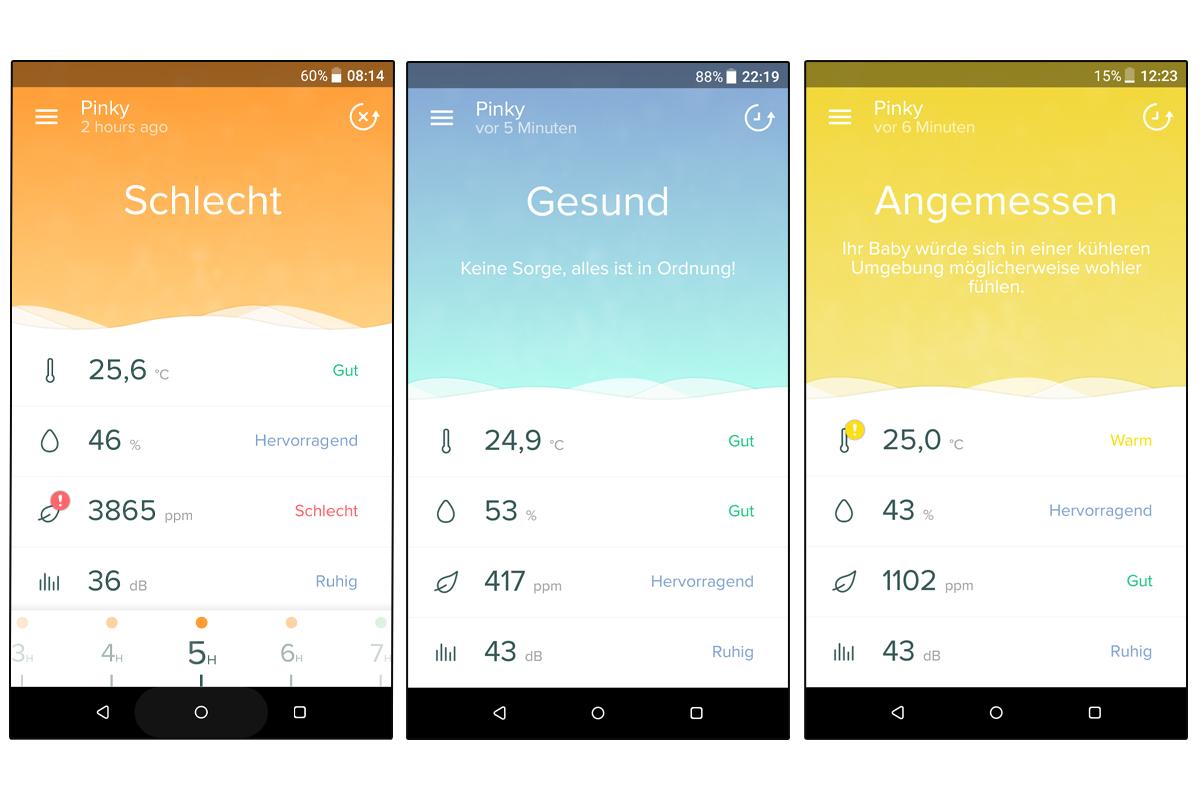 Screenshot von der healthy home coach App