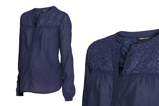 Spitzen-Bluse von H&M