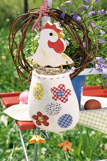 Hühner Stoffbeutelchen filzen: Anleitung