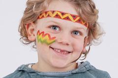 Indianer schminken für kleine Häuptlinge