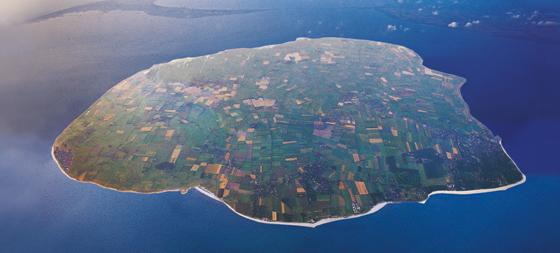 Insel Föhr aus der Luft