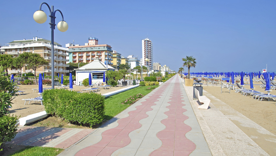 Jesolo Strandpromenade