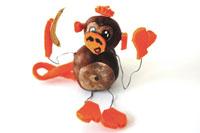 Affe aus Kastanien