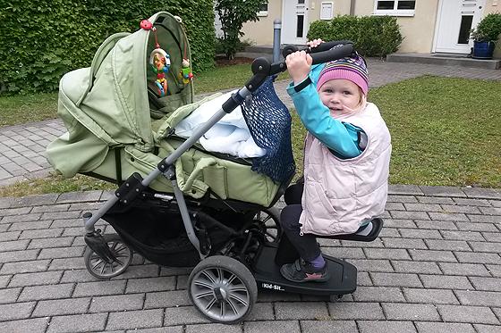 Kid-Sit Mitfahrsitz für Kinderwagen im Test