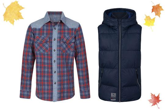 Kariertes Baumwollhemd für Jungen