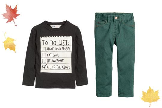 Grüne Twillhose für Jungen von H&M