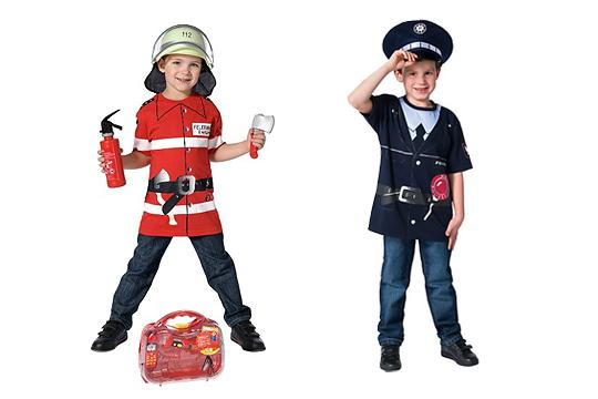 Jungenkostüme Feuerwehrmann und Polizist