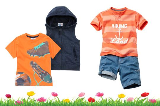 Kindermode Frühling 15: Orange für Jungs