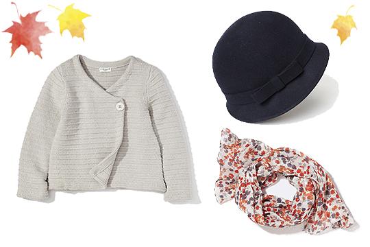 Kindermode Herbst 2014: Cardigan, Schal und Hut