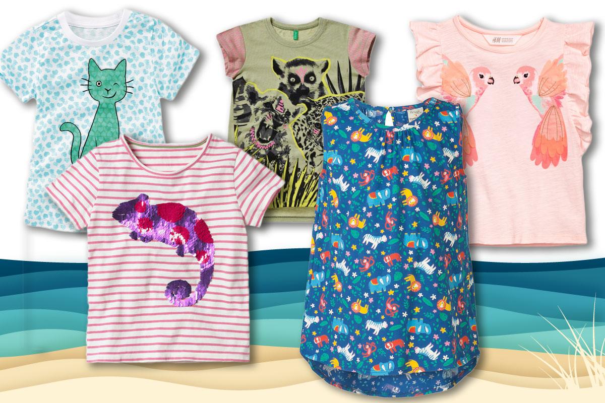 Kindermode für den Sommer: Shirts für Mädchen