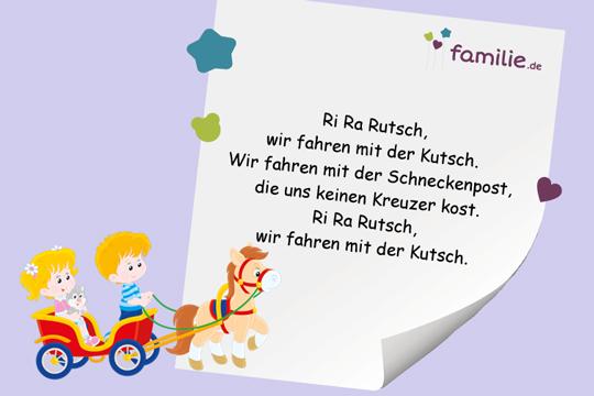 Kinderreime: Ri Ra Rutsch