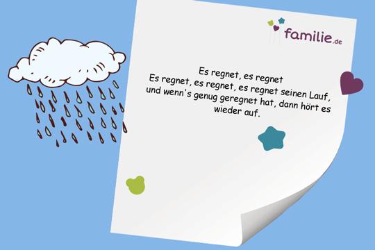 Kinderreime: Es regnet, es regnet