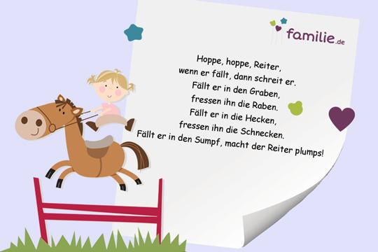 Kinderreime: Hoppe, hoppe, Reiter
