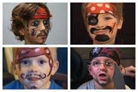 Kinderschminken: Pirat. Weitere Anleitungen auf familie.de.