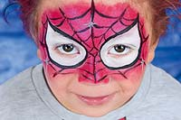Kinderschminken: Spiderman