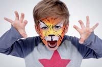 Kinderschminken: Tiger. Weitere Anleitungen auf familie.de