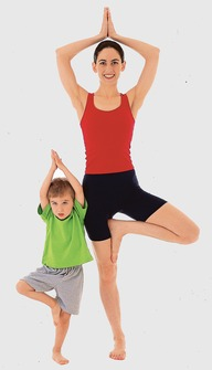 Kinderyoga-Übungen: Der Baum