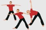 Kinderyoga-Übungen: Das Dreieck