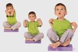 Kinderyoga-Übungen: Der Hahn