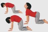 Kinderyoga-Übungen: Die Katze