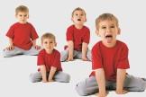 Kinderyoga-Übungen: Der Löwe