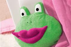 Kissen-Frosch mit Kussmund