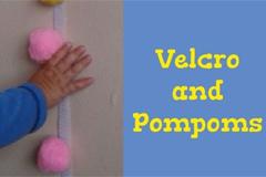 Klettband und Pompoms