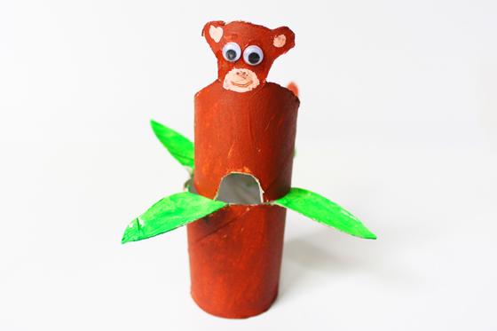 Affe aus Klorollen basteln