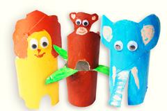 Tiere aus Klorollen basteln