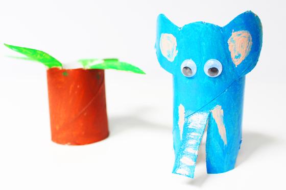 Elefant aus Klorollen basteln