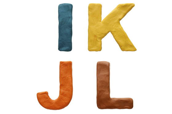 Knete: Buchstaben