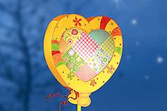 Herzballon-Laterne