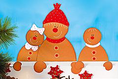 Weihnachtsdeko basteln: Lebkuchen Fensterbild