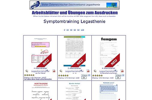 Legasthenie Linktipp: Arbeitsblätter.org
