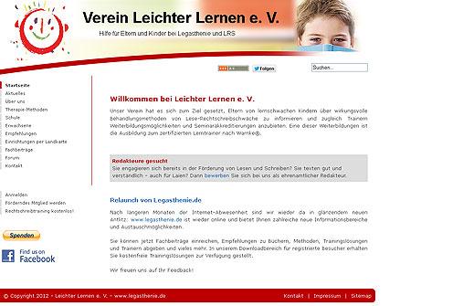 Legasthenie Linktipp: Verein leichter lernen