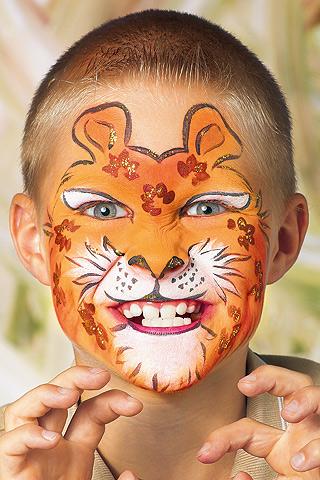 Leopard schminken: Schritt 3
