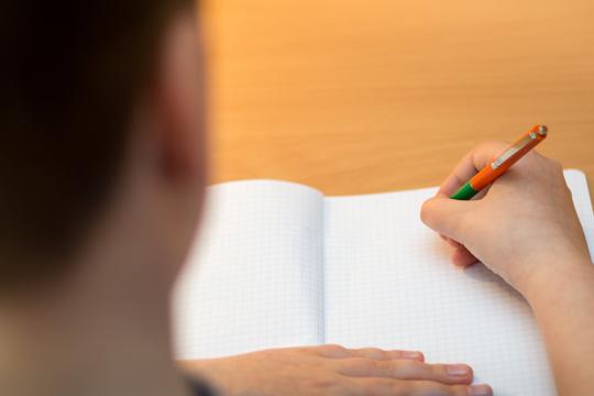 Schüler lernt mit der Testing-Strategie