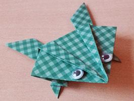 Lukas und Lara auf Tour - Origami-Frosch