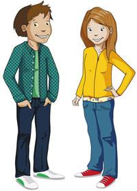 Lukas und Lara auf Tour