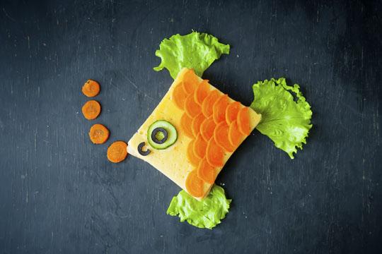 Lustige Brote: Fisch