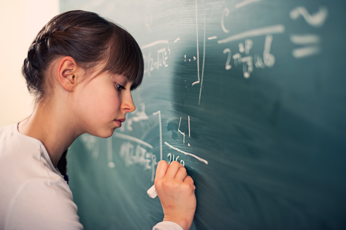 Mädchen und Mathe