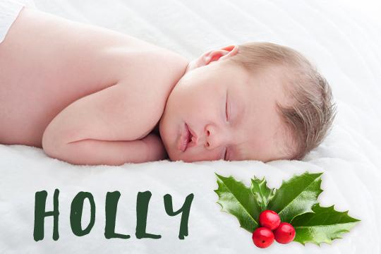 Blumige Mädchennamen: Holly