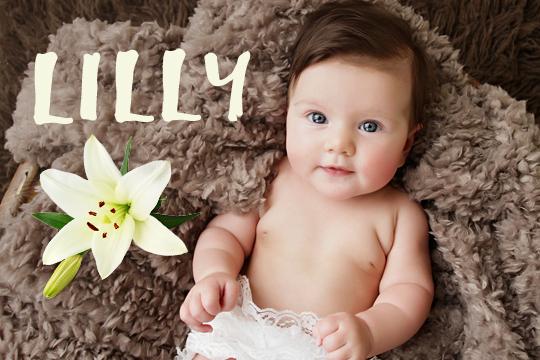 Blumige Mädchennamen: Lilly
