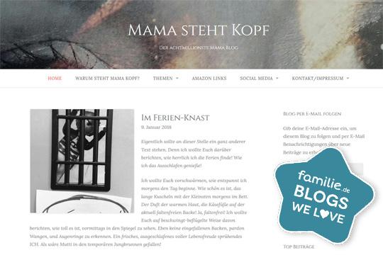 Blog Mama steht Kopf