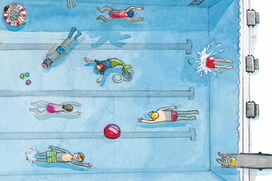 Eine Meerjungfrau im Schwimmbad Vorlesegschichte