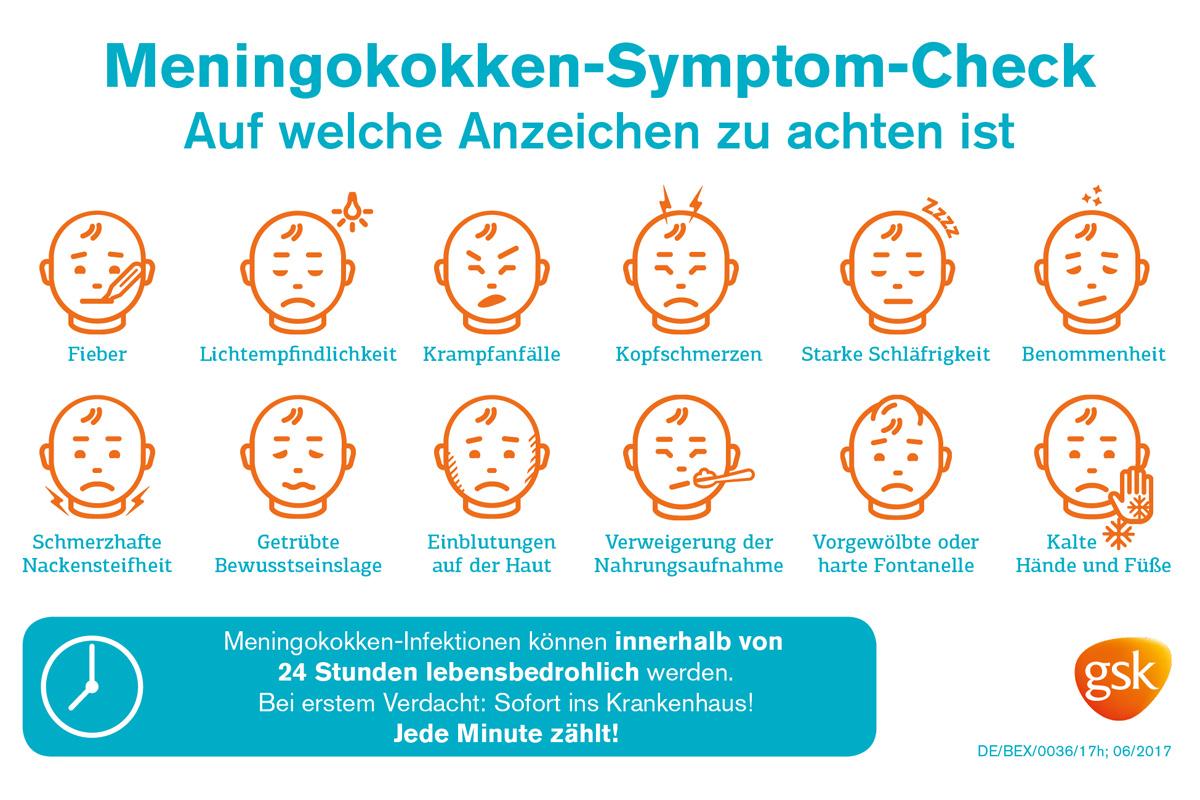 Meningokokken: Symptom-Check