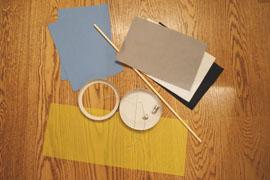 Material für die Minions-Laterne