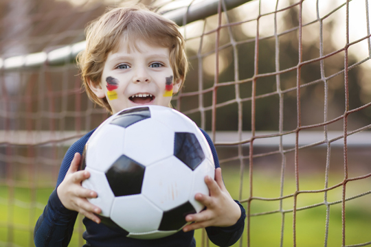 Kinderparty mit Motto: Fußball